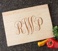 Personalized Cutting Board, Personal Housewarming Gift, Monogram Bamboo Cheese Board, Wood chopping Board, Host Hostess Gifts(China)