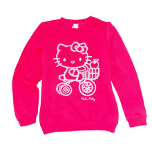 Hello Kitty Girl's Sweatshirt fleece lining Spring Autumn outwear top Clothing size 9-10 years