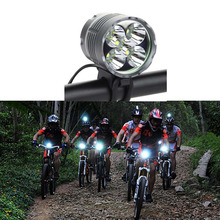 5 LED 6000 Lumen Bike Bicycle Front light Waterproof Headlamp HeadLight Bicycle Rechargeable Lighting+6400mAh 18650 Battery Pack(China)