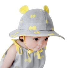 2017 New Toddlers Baby Girls Boys Lace Flower Hollow Cap Soft Bonnet Summer Sun Hats 0-3Y Caps 4 Patterns M2