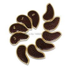 Free Shipping Brown Polishing Synthetic Leather Golf Covers Headcovers Protectors (3,4,5,6,7,8,9,PW,AW,SW) Fit AP1 AP2 JPX MP