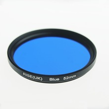 RISE(UK) 52 mm full color Blue lens Filter for Nikon D3100 D3200 D5100 SLR Camera lens