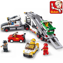 Sluban 638pcs Auto Transport Truck Building Blocks Transport aircraft vehicle Bricks Model Bricks Classic Toy Best Children Gift