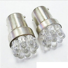 Hot Sale BA15D 1156 G18 Car External LED Lights 9 LED Car Auto Brake Backup Stop Rear Tail LED Parking Light Bulbs 2Pcs(China)