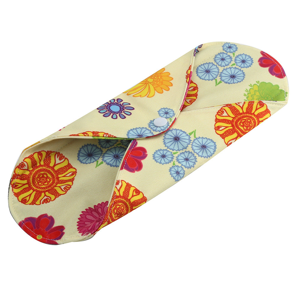 1pc New Arrival Women's Reusable Bamboo Cloth Washable Menstrual Pad Mama Sanitary Towel Pad Pretty Feminine Hygiene Product 11