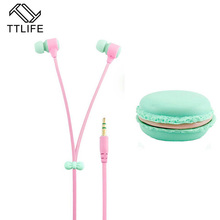 TTLIFE Cheap New Headset Macarons Earphone With Microphone Stereo Bass Earbud For xiaomi All Mobile Phone MP3 Player Candy Color(China)