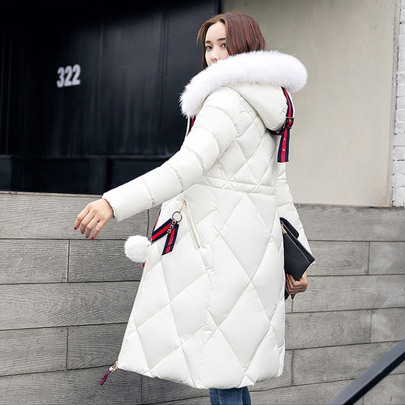 2017 Long Parkas Female Women Winter Coat Snow wear Coats  Nagymaros fur collar down Thicken Winter Jacket Womens Outwear WomenÎäåæäà è àêñåññóàðû<br><br>