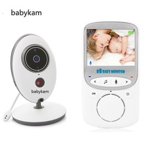 Babykam baba electronics detector fetal doppler vb605 with 2.4 inch LCD IR Night Vision Intercom Temperature monitor 8 Lullabies(China)