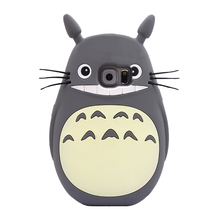 2017 3D Japan rubber cute cartoon animal totoro cat soft silicone case For Samsung galaxy s3 I9300/s4 i9500/s6/a3/a5/a7/E7