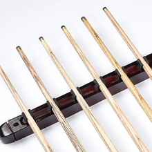 1 Pair Billiard Pool Wall Mount Hanging 6 Cue Sticks Solid Wood Rack Professional and Holder for Snooker Wine Red 39*4*3cm