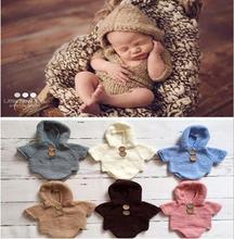 Hand Knitting Cotton Soft 0-2month Newborn Baby Warm Romper For Girls Boys clothes Rompers Jumpsuits Photo props