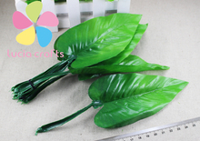 Approx  21cm Calla lily leaves Artificial flowers DIY  stocking flowers material 12pcs/lot   086020010