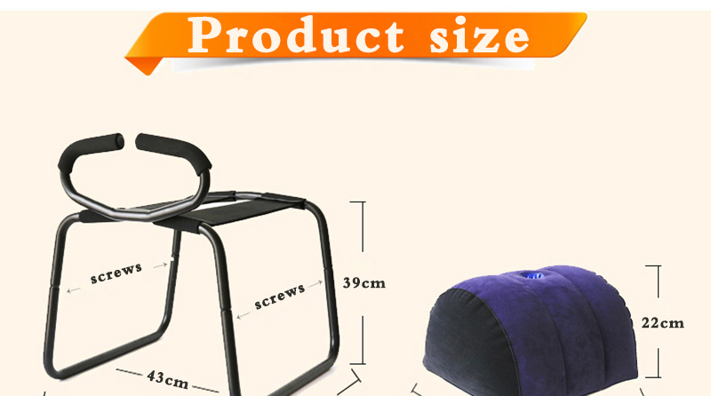 TOUGHAGE Weightless Love Sex Chair Sex Furniture Inflatable Pillow Stool With Handrail Sex Toys for Woman Couples Products Sofa (12)