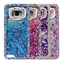 YOKATA Luxury Case For Samsung Galaxy S8 S8 Plus Case For Crystal Diamond Hard Glitter Rhinestone Quicksand Flash Drill Border(China)