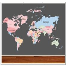 Buy Colorful World Map Wall Sticker Decal Vinyl Animal Cartoon Wall Stickers Kids Rooms Nursery Home Decor Children Art Poster # for $5.64 in AliExpress store