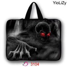 Skull Laptop Bag 7 10 12 13 14 15 17 inch Notebook sleeve tablet protective case PC cover pouch For Asus HP Acer Lenovo LB-3104(China)