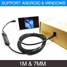 1M Android/PC Endoscope Waterproof Borescope Inspection Tube Pipe Snake Camera MIni