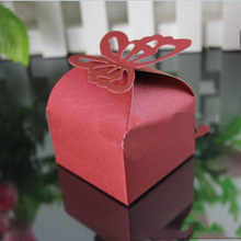 50 Pcs Wedding Candy Box Creative Gift Box Pearl Butterfly Paper Box European Candy Box Cartons Wedding Decoration 7ZSH122(China)