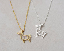 1PCS- N060 Fashion Cute Origami Deer Necklace Baby Deer Necklace Antler Necklace Fawn Bambi Necklace for Animal Jewelry