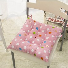 Pearl Cotton Square Seat Chair Pad Cushion New 40*40cm Colorful Wave Point Design Home Comfortable Pillow Take Rest