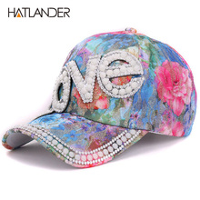 Newest women 3D big shiny rhinestones cap and hat sports dancer street baseball cap crystal decoration on hats for girls