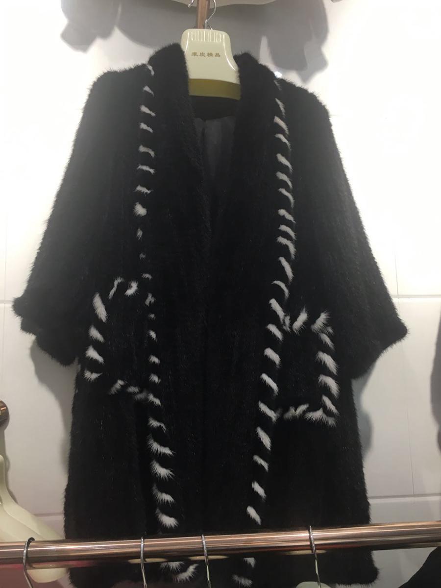women luxury genuine real knitted mink fur shawls (7)