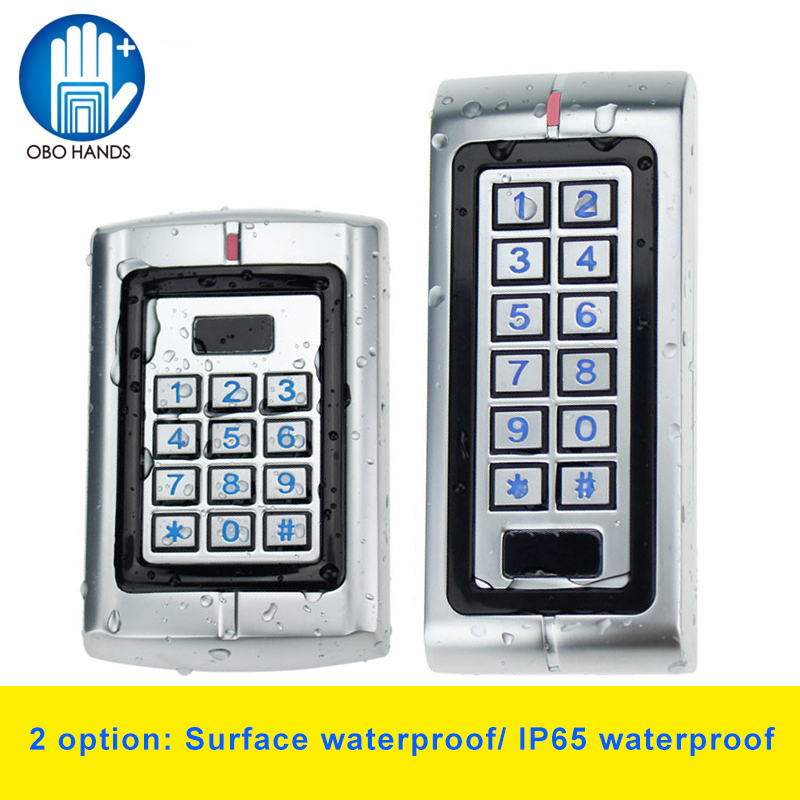 Metal IP65 Waterproof Access Controller Digital Keypad Proximity RFID 125KHz with Blue Backlight 2000 User<br>