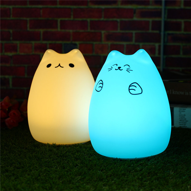 Soft Clap Silicone Night Lamps USB LED Night Light Children For Bedroom  Kids Rooms With 24