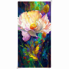 HOT!Pink peony diy diamond painting cross stitch needlework full square drill canvas rhinestone diamond mosaic room wall sticker
