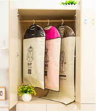 Clothing dust bag for Storing Clothes Garment Suit Coat Dust Cover Protector Wardrobe Storage Bag Case for Clothes Organizador(China)