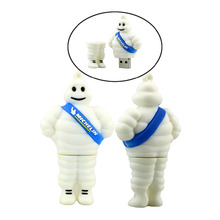 100% real capacity 4GB 8GB 16GB 32GB Cartoon  Michelin lovely USB Flash USB Flash Drives Pendrive USB Memory