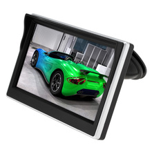 5.0 Inch Car Monitor TFT LCD 800*480 Digital Color Screen 2 Way Video Input For Rear View Backup Reverse Camera DVD VCD DC 12V