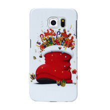 New Mobile Phone Cases Christmas Socks Pattern Case Cover For Samsung Galaxy S6 Hot Sale Wholesale #5057