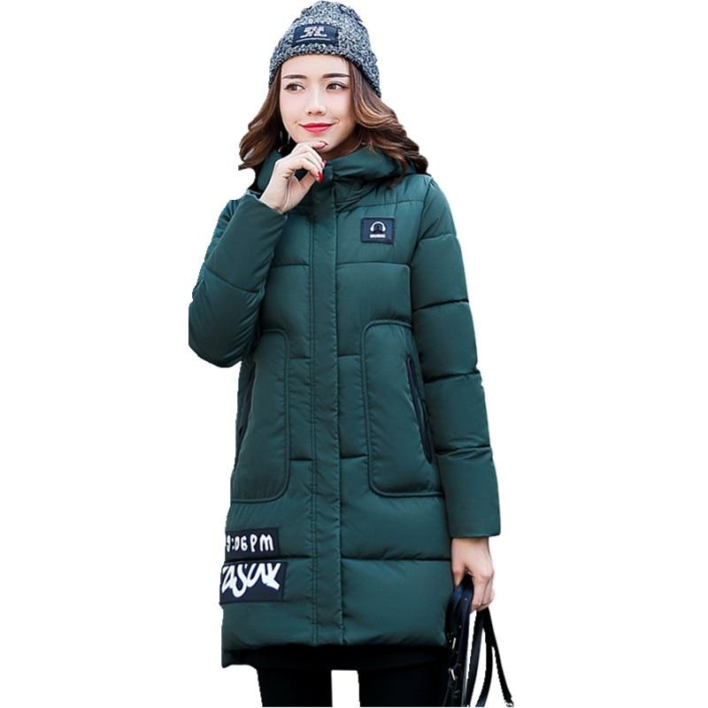 Womens Hooded Cotton-padded Jacket Female Winter Medium-long Cotton Coats Wadded Jacket Women Winter Jackets Basic Coat CM1321Îäåæäà è àêñåññóàðû<br><br>