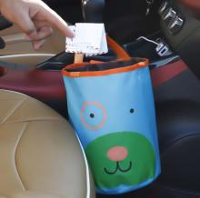 1 Pcs/set Cartoon Portable Car Headrest Litter Bag Trash Garbage Waterproof Back Seat Vehicle Collapsible Traveling Storage Bag