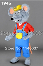 mascot Farmer Mouse plush Mascot Costume Cartoon Character carnival costume fancy Costume party(China)