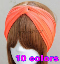 Turban Twist Cotton Headband women head wrap fashion lady Twisted Knotted Knot Soft hair band