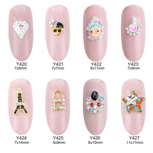 10pcs glitter star strass rhinestones for nails decorate Eiffel Tower doll design 3d nail jewelry art nail decorations Y420~427(China)