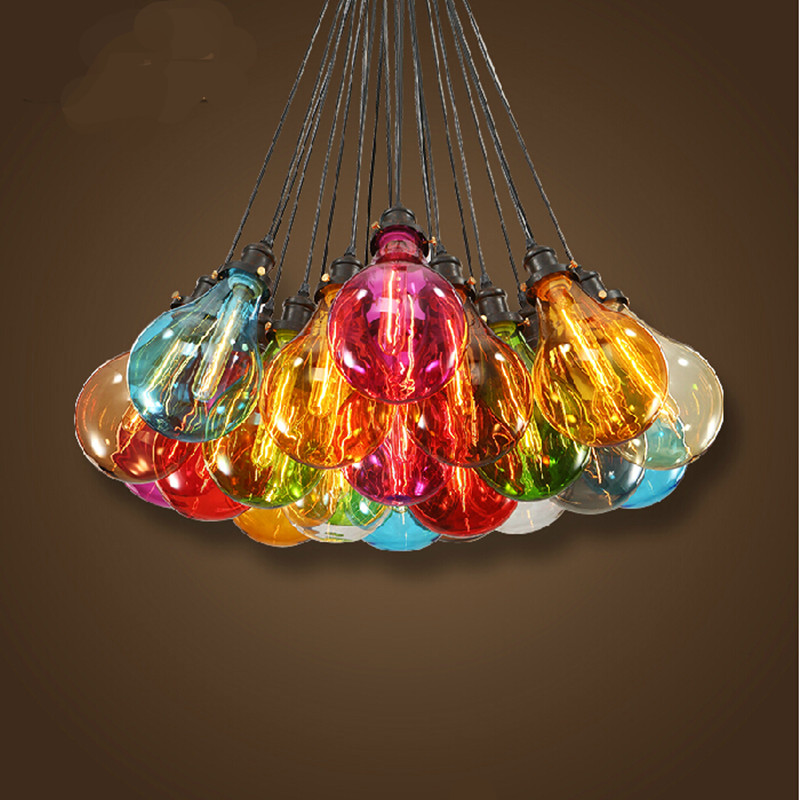 vintage hand made DIY colourful romantic fairytale crystal glass Dia 16cm led e27 pendant light for dining room living room 1140<br>