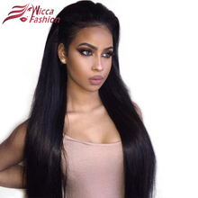 Dream Beauty 180 Density remy Brazilian silky Straight Pre Plucked 360 Lace Frontal Wig With Baby Hair Bleached Knots(China)
