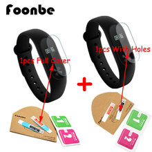 FOONBE 2pcs Protector Film For Xiaomi for Mi Band 2 Bracelet  Full Cover+ Holes Ultrathin Screen Protective Film