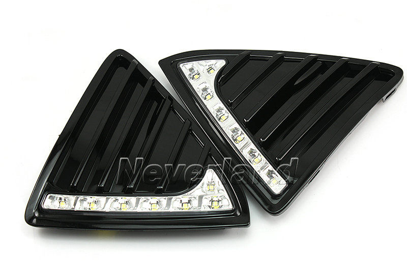 One Set 12V DRL LED Car Light DRL Daytime Running Lights For Ford Focus 2012 2013 with Fog Light Car Styling D20<br>