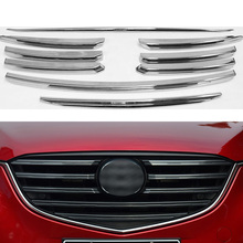 NULLA For Mazda CX5 CX-5 CX 5 2015 2016 Chrome Front Mesh Grill Grille Bumper Cover Trim Protector Insert Bonnet Garnish Guard
