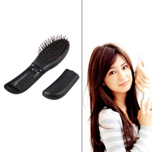 Portable Electric Head Hair Scalp Stress Relax Vibrating Massager Comb Brush Black Color