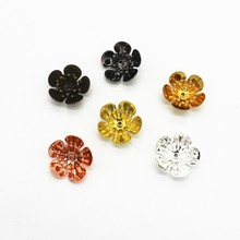Buy SEA MEW 16MM*6MM 6 Colors Plated Copper Flowers Base Setting Filigree Wraps Connectors Charm Findings Jewelry Making 10PCS for $1.45 in AliExpress store