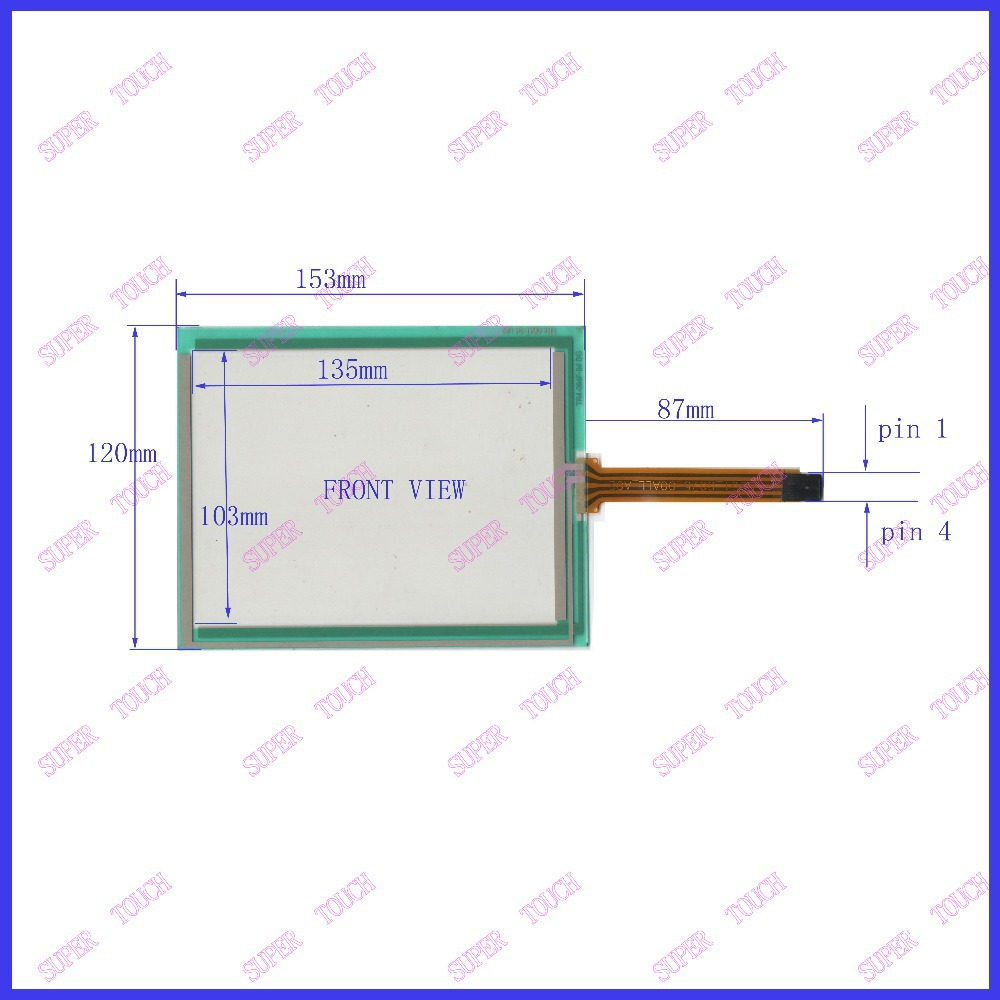 ZhiYuSun POST 6.4  inch four wire resistive Touch Screen touch  153*120  For GPS navigation TR5-064F-04  UN<br>