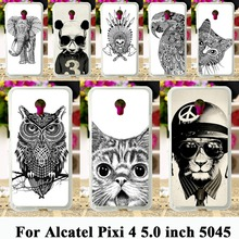 Soft TPU Cases Cartoon Animal Case for Alcatel OneTouch Pixi 4 5.0 inch OT-5045 5045D One Touch Pixi4 (5) Cases Painted Bag