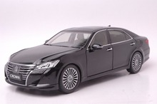 1:18 Scale Diecast Model Car for Toyota Crown 2015 Black Alloy Toy Car Collection(China)
