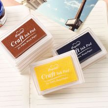 Fashion 5 Colors Oil Based  Craft Ink Pad Rubber Stamps for Fabric Wood Paper Wedding DIY