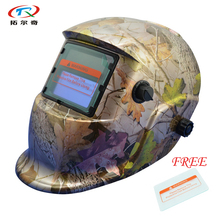 free Shipping Auto Darkening safety face Welding Mask welding helmets cheap Cap For MIG with 1pc protective glass HD04(2200DE)FS